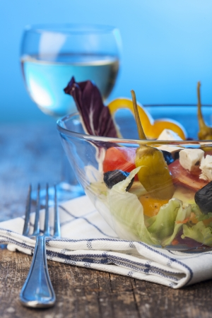 fresh salad in a glass bowl Stock Photo - 17752415