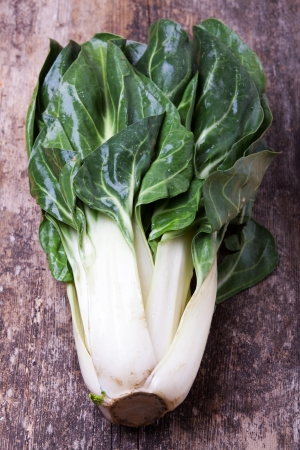 raw chard on a wooden plank  Stock Photo - 17752417