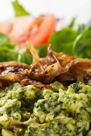 spaetzle with spinach, a bavarian speciality Stock Photo - 17871717
