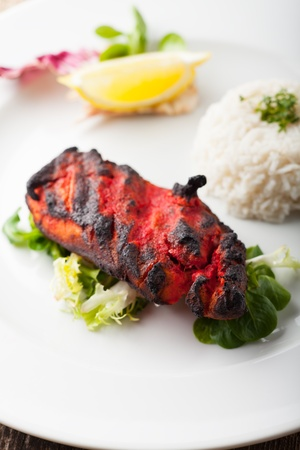 indian grilled tandoori chicken with rice Stock Photo - 17871713