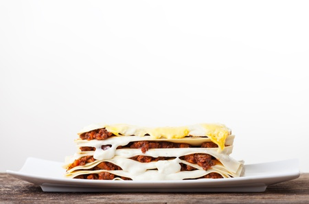 Lasagna seen from the side Stock Photo - 17999702