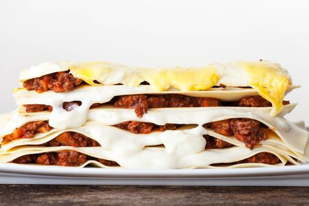 Lasagna seen from the side  Stock Photo - 17999705