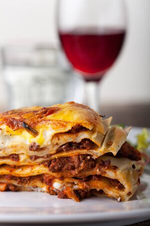 Lasagna, an italian pasta dish  Stock Photo - 17999706