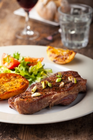 grilled steak with roasted potato Stock Photo - 17999710