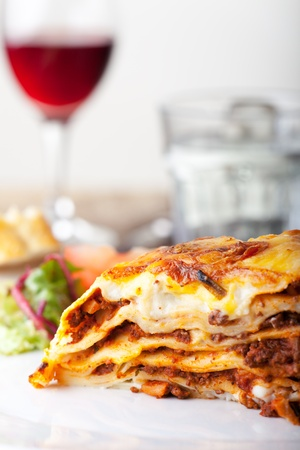 Lasagna, an italian pasta dish  Stock Photo - 18032882