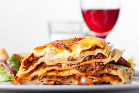 Lasagna, an italian pasta dish  photo