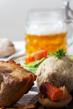 bavarian roast pork dish with dumplings  Stock Photo - 18032899