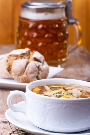 bavarian pancake soup in a bowl  Stock Photo - 18032901