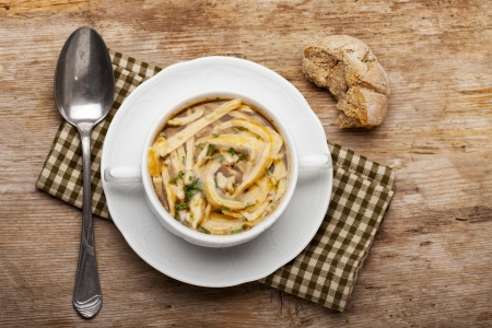 bavarian pancake soup in a bowl  Stock Photo - 18024623