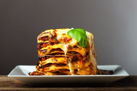 fresh italian lasagna  Stock Photo - 18937533