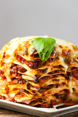 fresh italian lasagna  Stock Photo - 18937535