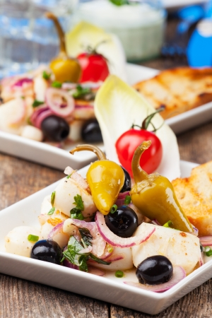 greek salad of grilled octopus  Stock Photo - 18937532