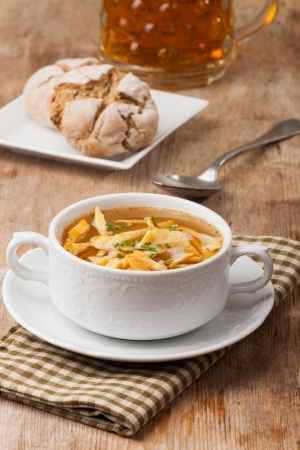 bavarian pancake soup in a bowl Stock Photo - 18937541