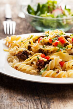spirelli and sauce bolognaise  Stock Photo - 18937524