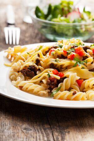 spirelli and sauce bolognaise Stock Photo - 18937524
