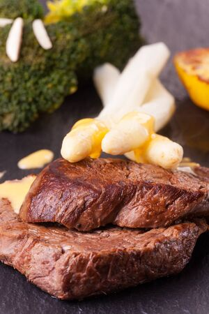 grilled steak with asparagus Stock Photo - 18937547