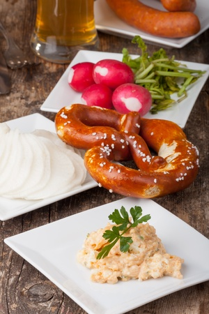 bavarian specialities on small plates  Stock Photo - 19087066