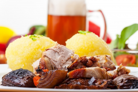 grilled bavarian pork meat with dumplings Stock Photo - 19154363