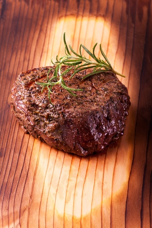 grilled steak with rosemary  Stock Photo - 19211317