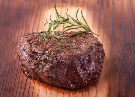 grilled steak with rosemary  Stock Photo - 19211314
