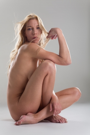 naked woman sitting  Stock Photo - 19385108