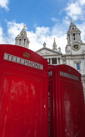british telephone box and St.Pauls Stock Photo - 19385112