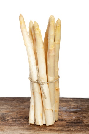 white asparagus on wood  Stock Photo - 19385141