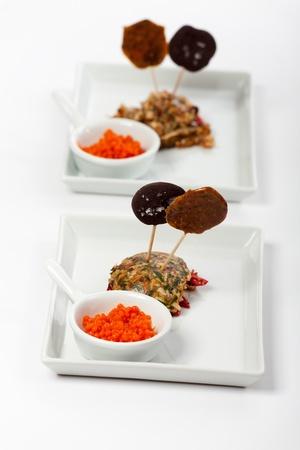 molecular kitchen dish on plates Stock Photo - 19385137