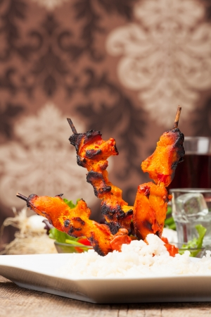 grilled indian tandoori chicken  photo