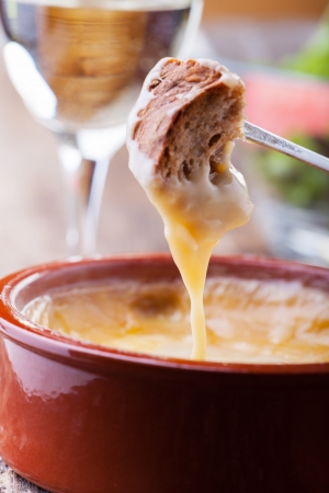 bread and cheese fondue Stock Photo - 20951804
