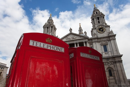 british telephone box and St.Pauls  photo