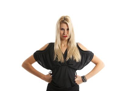 woman in an evening dress  photo