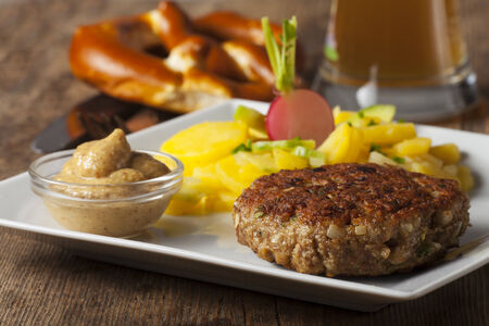 bavarian meatloaf with potato salad Stock Photo - 25451072