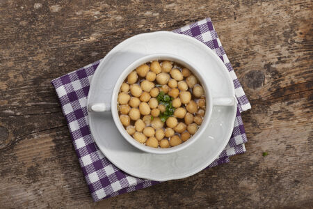 fresh broth with soup pearls  photo