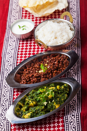 indian murgh palak curry dish  photo