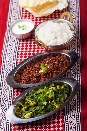 indian murgh palak curry dish  photo
