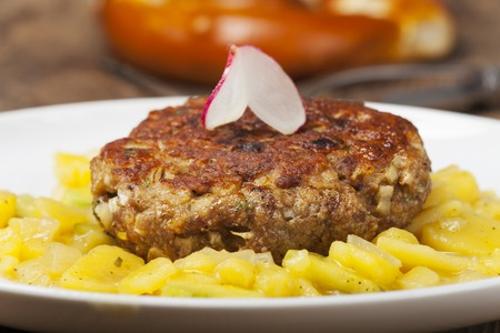 bavarian meatloaf with potato salad  photo