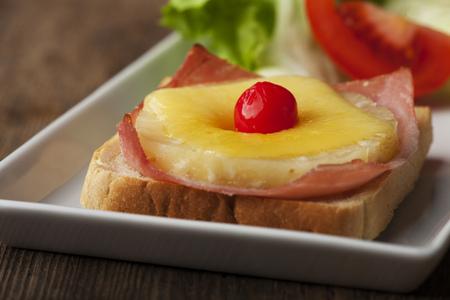 toast hawaii with a cherry