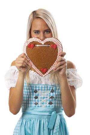 woman in a bavarian dirndl  photo
