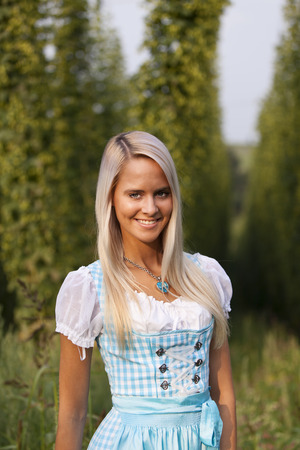 bavarian girl in a dirndl  photo