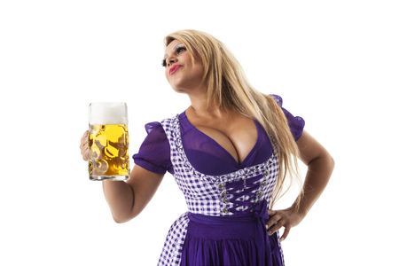bavarian woman with a beer photo