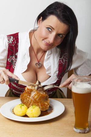 bavarian roasted pork with beer  photo