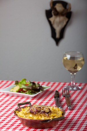 bavarian noodles with white wine photo