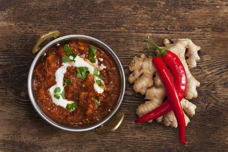 鍋のインド チキンカレー 写真素材
