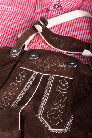lederhose: closeup of a bavarian costume