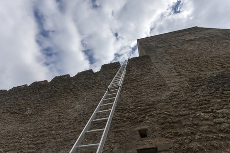 ladder on a castle