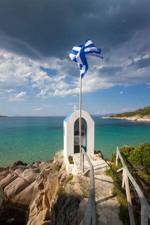 aegis: greek chapel and the sea