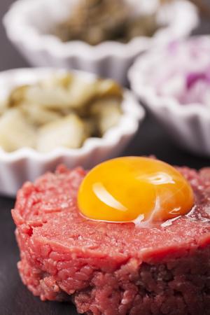 tartare: steak tartare with decoration