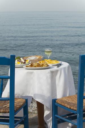 aegis: greek food outdoor in summer