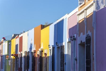 case colorate: case colorate a Campeche Archivio Fotografico